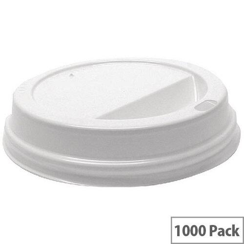 MyCafe Plastic Lids For 12oz-16oz Paper Disposable Cups [Pack of 1000] White Hhlids12