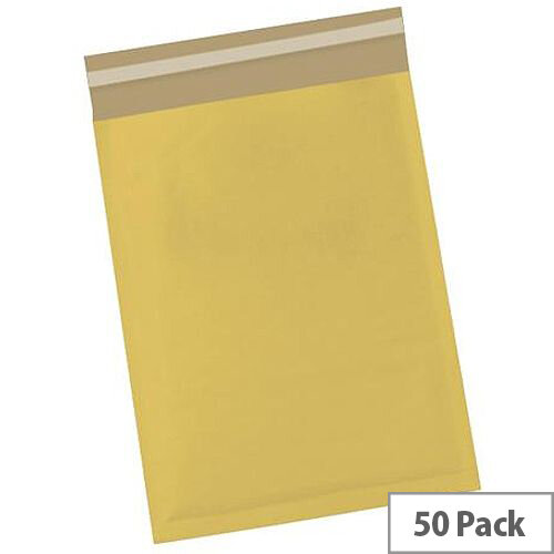 5 Star Office Bubble Lined Bags Size 5 260x345mm Gold Pack of 50