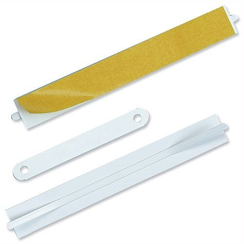 White Filing Fasteners Self Adhesive Pack 100 Durable