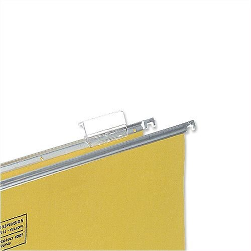 Plastic Tabs For 5 Star Suspension Files Clear Pack 50