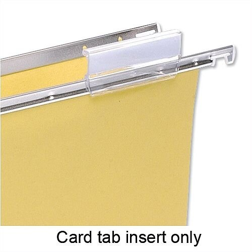 Card Inserts for  5 Star Suspension File Tabs White Ref 100331400 Pack 50