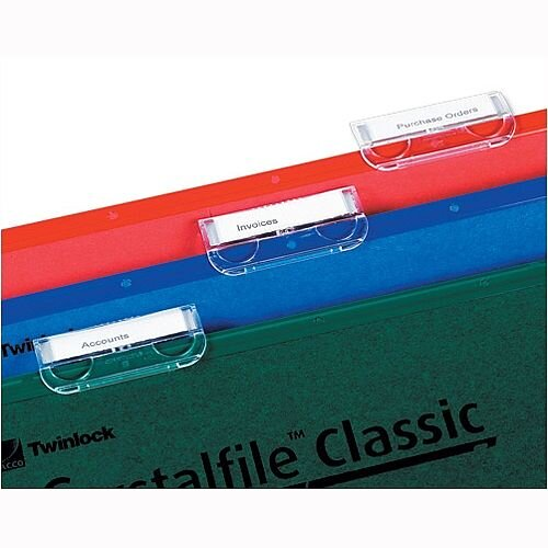 Plastic Tabs For Rexel Crystalfile Suspension Files Clear 78020 Pack 50
