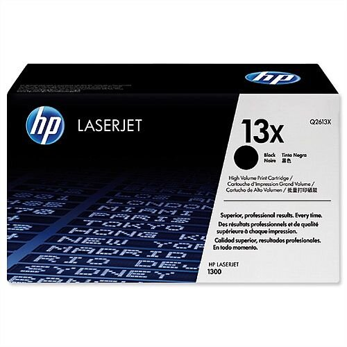HP 13X Black High Yield LaserJet Toner Cartridge Q2613X
