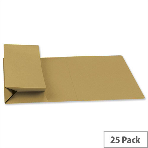 Guildhall Probate Wallets Manilla Foolscap Yellow Pack of 25
