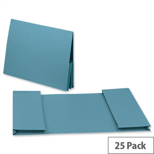 Guildhall Legal Wallet Double Pocket Manilla 2x35mm Foolscap Blue Pack of 25