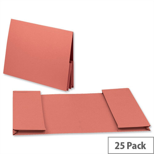 Guildhall Legal Wallet Double Pocket Manilla 2x35mm Foolscap Orange Pack of 25