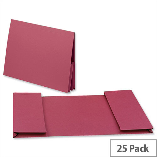 Guildhall Legal Wallet Double Pocket Manilla 2x35mm Foolscap Red Pack of 25