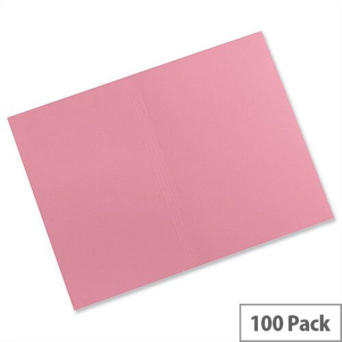 Guildhall Manilla Square Cut Folders Foolscap Pink FS315 Pack 100