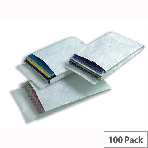 Tyvek C4 324x229x20mm Peel and Seal White Gusset Envelopes Pack of 100