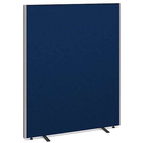 Floor Standing Acoustic Fabric Upholstered Screen 1500mm Highx1200mm Wide - Blue