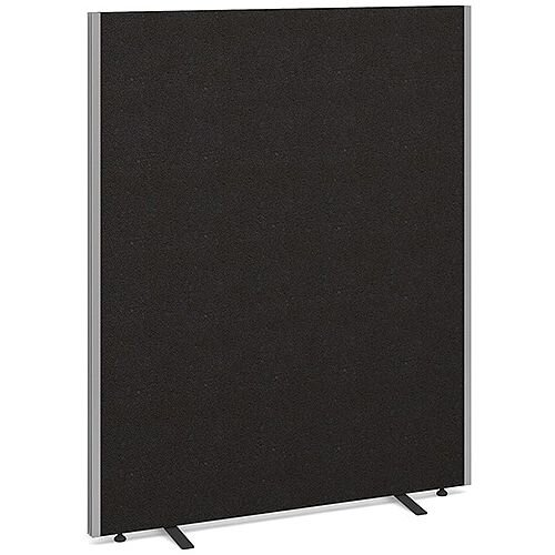 Floor Standing Acoustic Fabric Upholstered Screen 1500mm Highx1200mm Wide - Charcoal