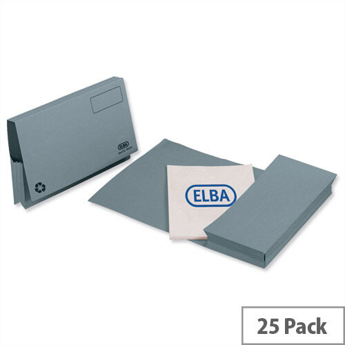 Elba Probate Wallets Manilla 315gsm Full Flap Foolscap Blue Pack of 25 100090048