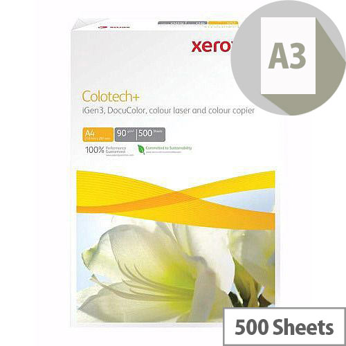 Xerox A3 Colotech Plus 90gsm White Premium Copier Paper Ream of 500 Sheets 003R98839