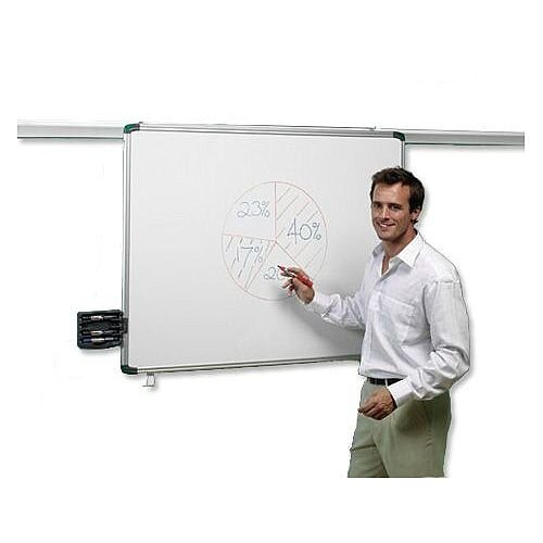 Nobo Pro-Rail Drywipe Board Magnetic 1800mm Aluminium Trim Ref 1901234