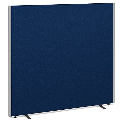 Floor Standing Acoustic Fabric Upholstered Screen 1500mm Highx1600mm Wide - Blue