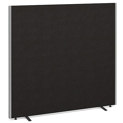 Floor Standing Acoustic Fabric Upholstered Screen 1500mm Highx1600mm Wide - Charcoal