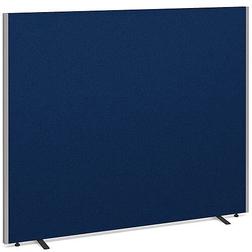 Floor Standing Acoustic Fabric Upholstered Screen 1500mm Highx1800mm Wide - Blue