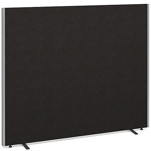 Floor Standing Acoustic Fabric Upholstered Screen 1500mm Highx1800mm Wide - Charcoal