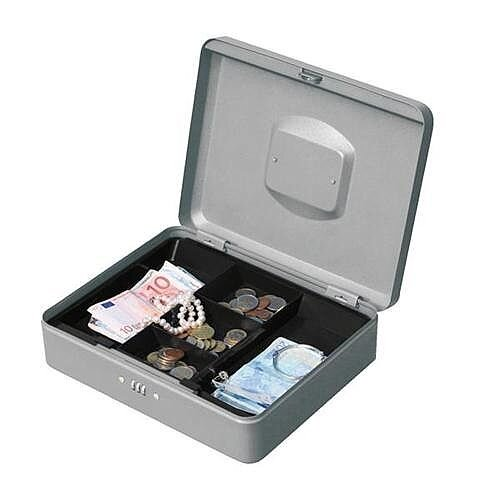 5 Star Combination Lock Facilities Premium Cash Box Black – 12 Inch, 5 Coin Compartments, 3-Digit Combination Lock, Metallic Paint Finish, Metal Handle, Removable Tray &1-Year Warranty (522864)