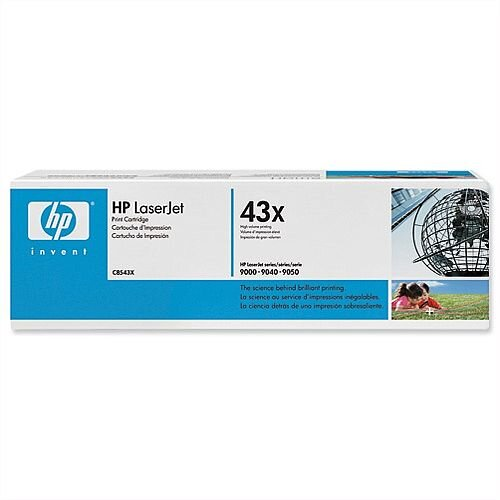 HP 43X Black High Yield LaserJet Toner Cartridge C8543X