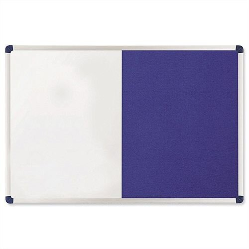 Nobo Elipse Combination Board Magnetic Drywipe and Felt 900 x 600mm Blue