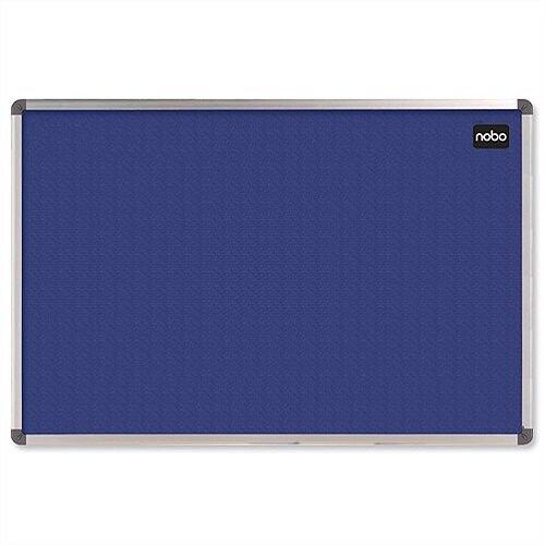Nobo Blue Felt Notice Board Aluminium Frame W900 x H600mm