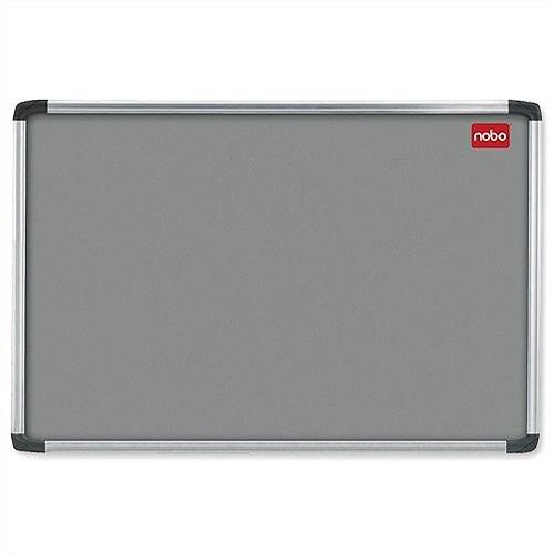 Nobo Grey Felt Notice Board with Aluminium Frame 1200 x 900mm