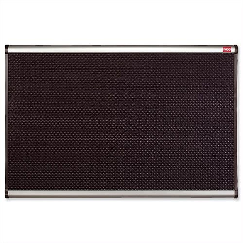 Nobo Prestige Noticeboard High-density Foam 1200 x 900mm Black with Aluminium Finish