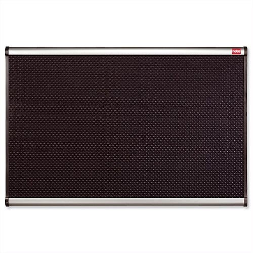 Nobo Prestige Noticeboard High-density Foam 900 x 600mm Black with Aluminium Finish