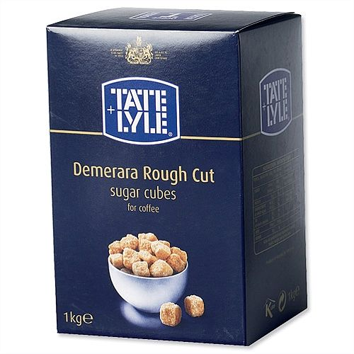Tate and Lyle Demerara Brown Sugar Cubes Rough Cut 1Kg Ref A03903 539753