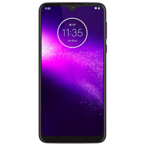 Motorola One Macro - Smartphone - dual-SIM - 4G LTE - 64 GB - GSM - 6.2&uot; - 1520 x 720 pixels (270 ppi) - RAM 4 GB (8 MP front camera) - 3x rear cameras - Android - ultra violet