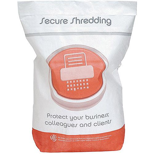 Secure Shredding Sacks  Pack of 10  Size  WxH : 475x600mm Holds up to 15kg