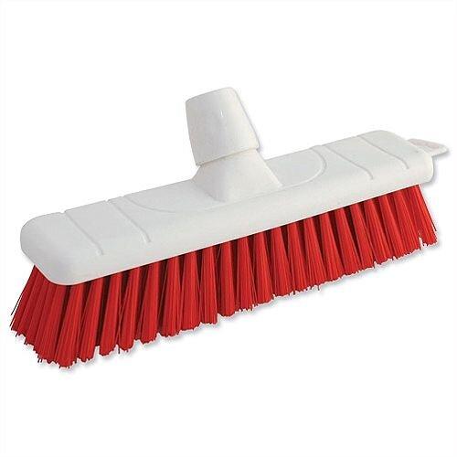 Red Soft Bristle Indoor Brush 12 Inch Head