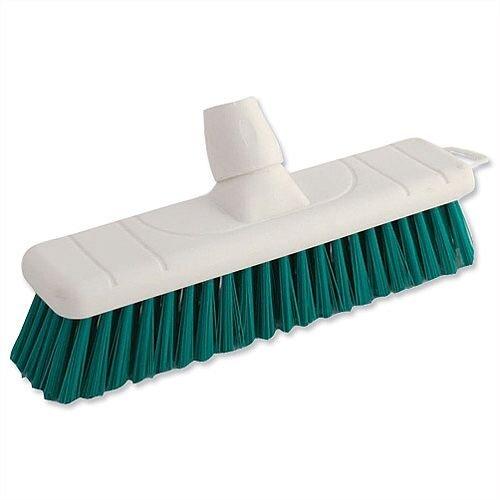 Green Soft Bristle Indoor Brush 12 Inch Head