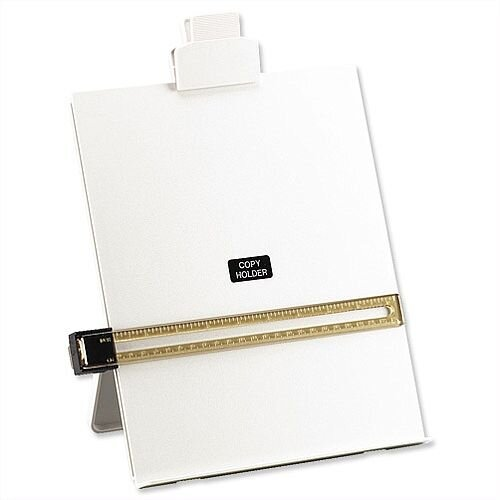 Desktop A4 Copyholder with Line Guide Ruler Grey 5 Star
