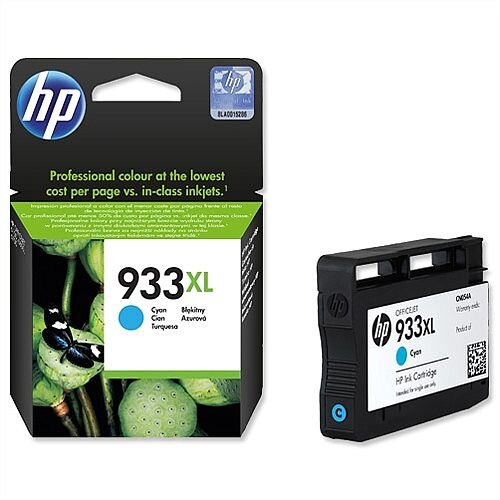 HP 933XL Cyan Inkjet Cartridge High Capacity CN054AE 557961