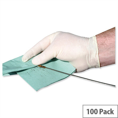 Keepsafe Disposable Powder Free Latex Gloves Medium Box 100 Ref GL8882