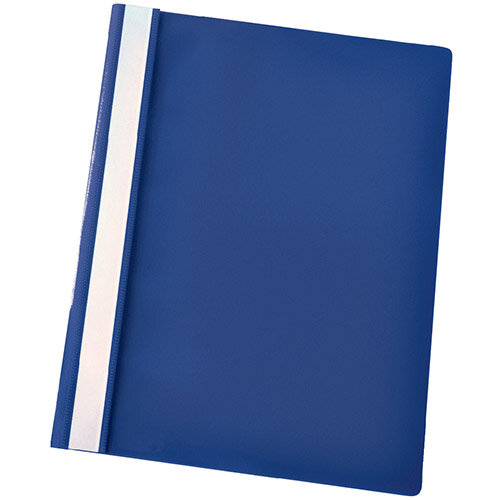 Esselte A4 Dark Blue Report Flat File Lightweight Plastic Clear Front Pack 25 x 25