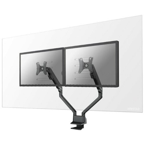 """Newstar Safety Screens for 2 Monitors - Acrylic, Transparent, Desk Mount for Two Monitors up to 27"""" - 100x100mm VESA Mount - Mounting Component"""