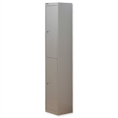 Bisley 2 Door Locker Steel Goose Grey CLK122-73