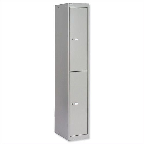 Bisley 2 Door Deep Locker Steel Goose Grey CLK182-73