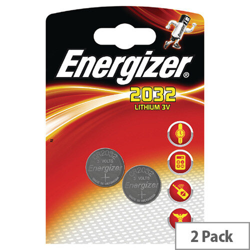 Energizer CR2032 Button Cell Coin Batteries 2 Pack – Lithium Battery, 3 Volt, 240 mAh, 2-Year Shelf Life, 8-Year Battery Life, Works Between -30 and +60 Degrees, Speciality &CPSC (CR2032)