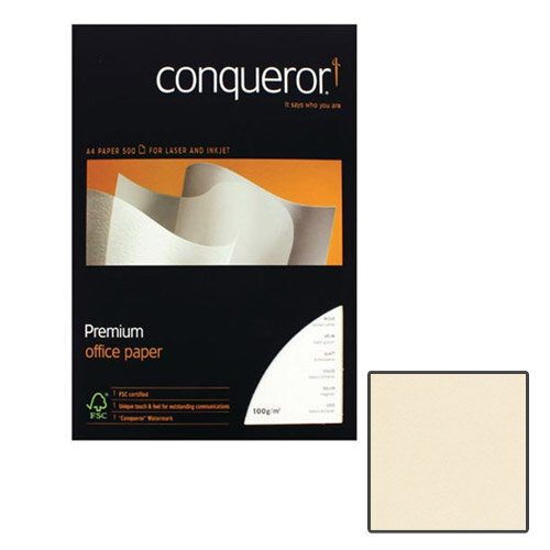 Conqueror CX22 Super Smooth Texture Cream Premium Paper A4 100gsm 500 Sheets
