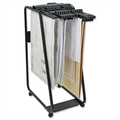 Arnos Hang-A-Plan General Front Load Trolley for Approx 20 Binders A0-A1-A2-B1 W550xD800xH1335mm D060 600210