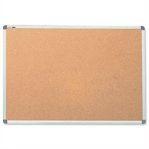 Nobo Cork Notice Board with Aluminium Trim and Fixings 900 x 600mm
