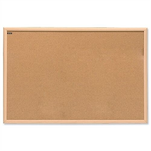 Nobo Natural Oak Finish Cork Notice Board 1200 x 900mm