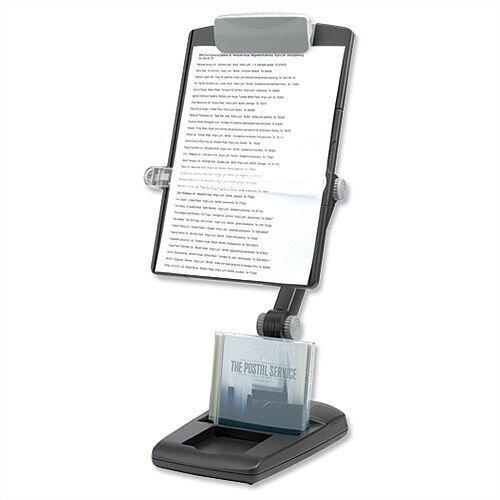Fellowes Freestanding Copyholder Heavy Base Multipositional Landscape and Portrait 3 Joints Graphite BB52978