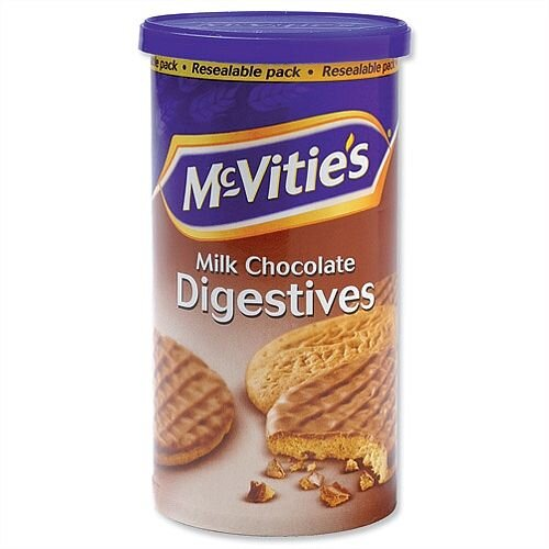 McVities Milk Chocolate Digestives Biscuits 250g Resealable Pack Ref A06918