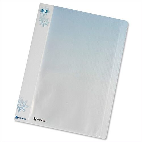 Rexel Ice A4 Clear Pocket File 40 Pockets Clear Covers 2102041 Pack 10