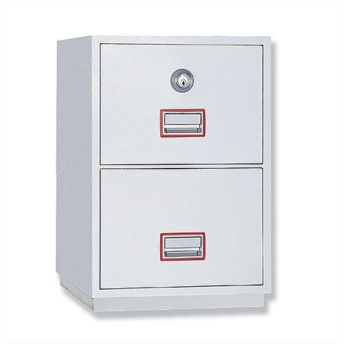 Filing Cabinet Fire Proof 2 Lockable Drawers 145 Kg Phoenix Firefile